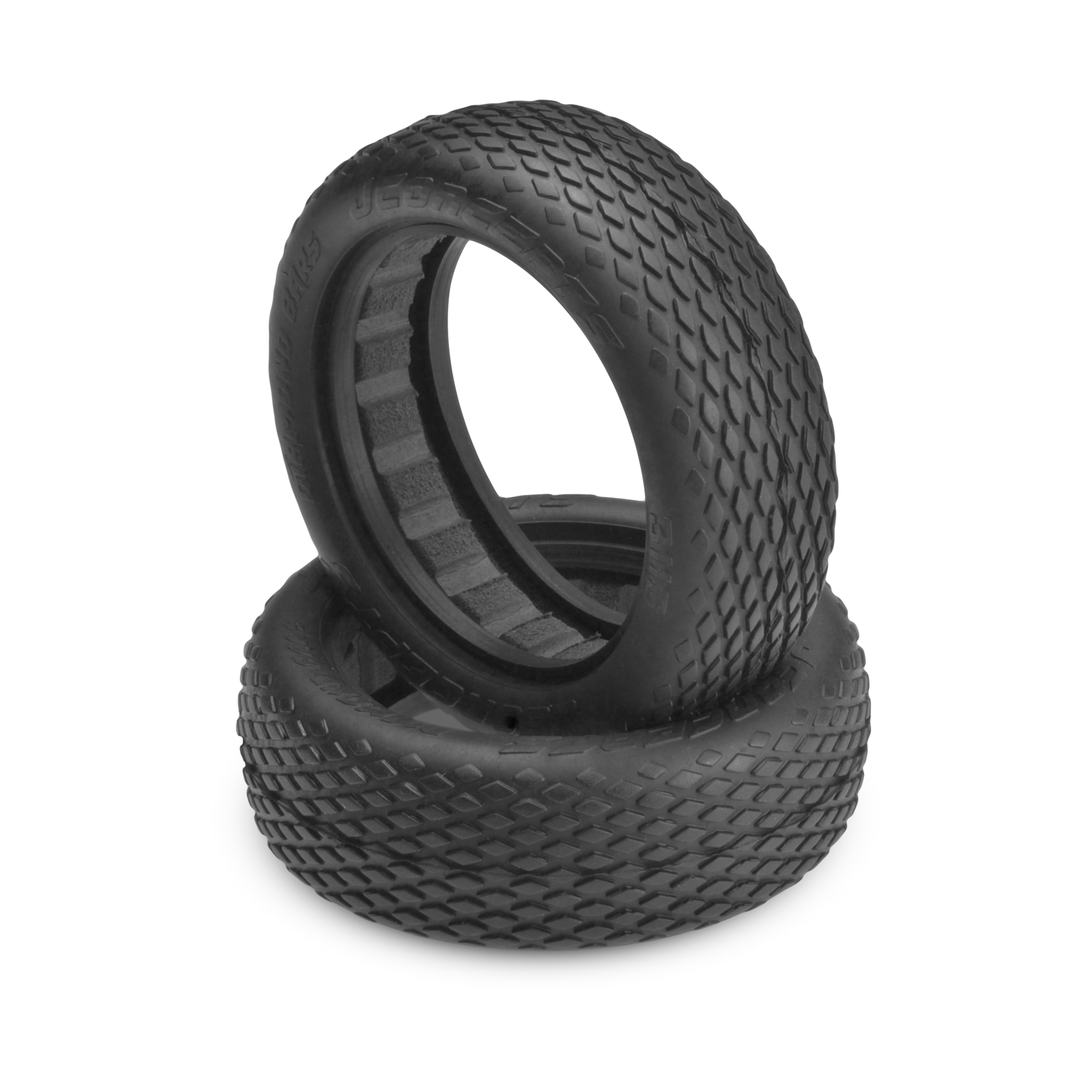 """Green Compound JConcepts 3116-02 Diamond Bars 2.2/"""" 2WD Front Buggy Tire 2"""