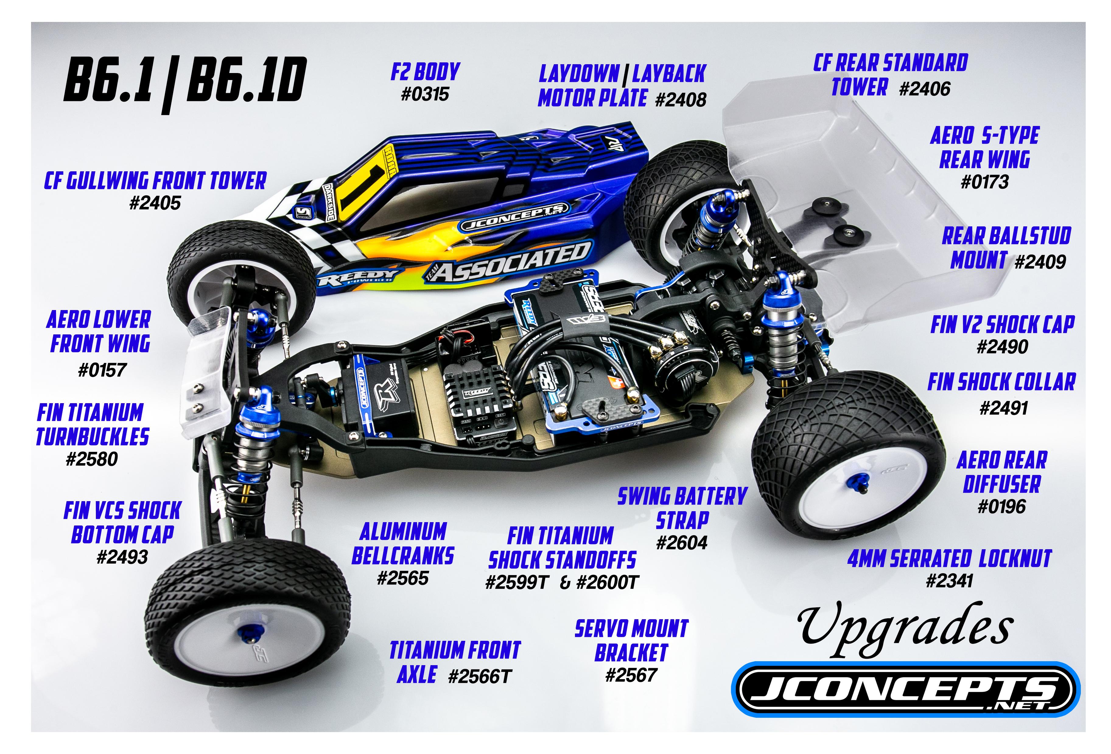 for B6.1 Laydown Gearbox Team Associated